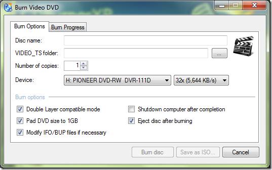 Burn Video DVD