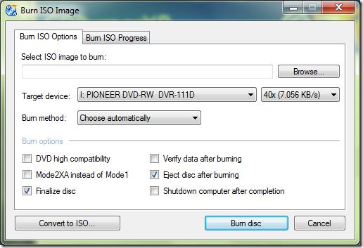 Izbor ISO fajla